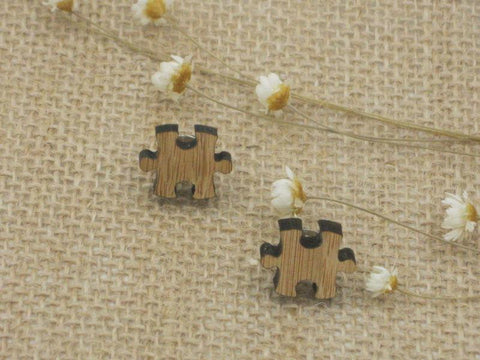 Laser Cut Puzzle Studs Post Earrings