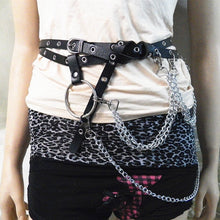 Load image into Gallery viewer, Big O Ring Metal Chain Belt - Go Steampunk