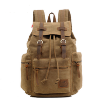 Vintage Canvas Backpack Brown - Go Steampunk