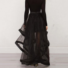 Load image into Gallery viewer, Floor Length Organza Skirt M - Go Steampunk