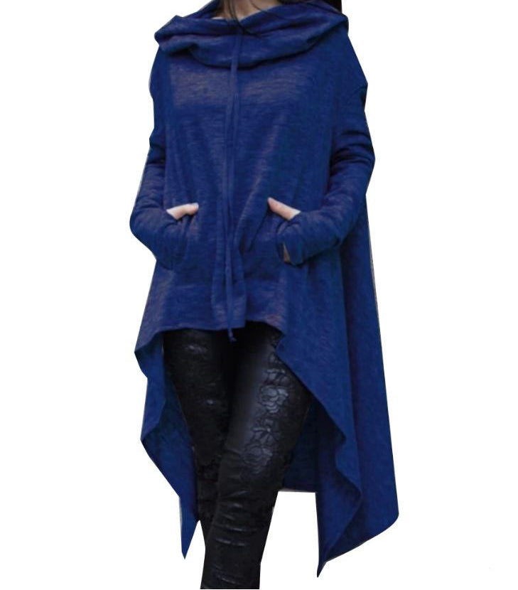 Long Pullover Plus Size Hoodie Blue / L - Go Steampunk