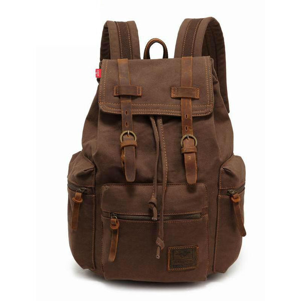 Vintage Canvas Backpack Coffee - Go Steampunk