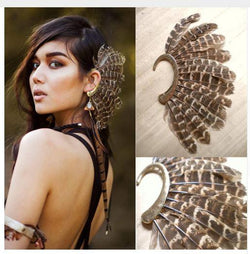 Big Feather Ear Cuff
