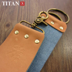 Leather and Denim Double Sided Razor Strop