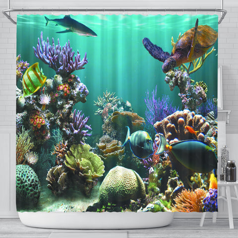 Ocean World Shower Curtain - Go Steampunk