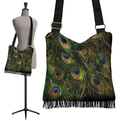 Peacock Crossbody Boho Handbag - Go Steampunk