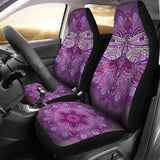 Purple Dragonfly Car Seat Covers - Go Steampunk