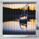 Shower Curtain Dark Splash - Go Steampunk