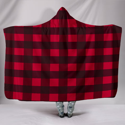 "Hoodie Blanket Plaid Hooded BlanketHoodie Blanket Plaid / Youth 60""x45"" - Go Steampunk"