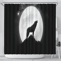 Wolf Howling Shower Curtain - Go Steampunk