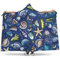 "Sea Creatures Hooded BlanketSea Creatures / Youth 60""x45"" - Go Steampunk"