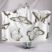 "Customised Hoodie Blanket Sepia Butterfly Hooded BlanketCustomised Hoodie Blanket Sepia Butterfly / Youth 60""x45"" - Go Steampunk"