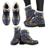 Blue And Gold Bohemian Boots - Go Steampunk