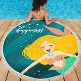 Mermaid Beach Blanket - Happiness - Go Steampunk