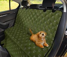 Load image into Gallery viewer, Army Green and Black Paisley Pet Seat Cover - Go Steampunk