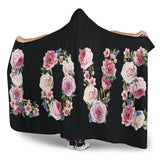Floral Love (Black) - Hooded Blankets - Go Steampunk