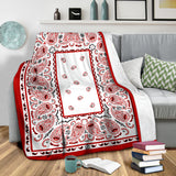 Ultra Plush Wicked White Bandana Blanket - Go Steampunk