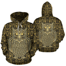 Load image into Gallery viewer, Gold Owl Hoodie - Go Steampunk