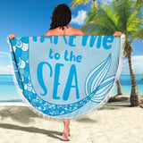 Mermaid Beach Blanket- Take Me To The Sea - Go Steampunk