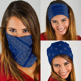 Blue and Gray Bandana Headbands 3 Pack - Go Steampunk