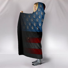 Load image into Gallery viewer, American Space Flag Hooded Blanket - Go Steampunk