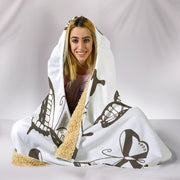 Customised Hoodie Blanket Sepia Butterfly - Go Steampunk