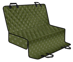 Army Green and Black Paisley Pet Seat Cover - Go Steampunk