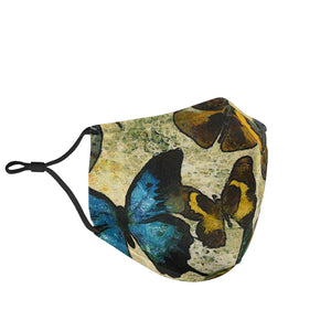Butterfly Collection Adjustable Face Mask - Go Steampunk
