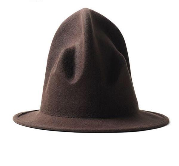 Unique felt hat coffee - Go Steampunk