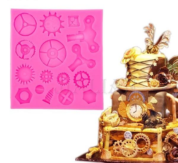Silicon Gears Mold for Cake Fondant