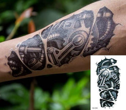 3D Robot Mechanical Arm temporary tattoo