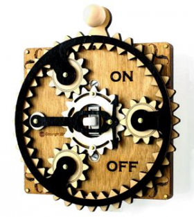 Planetary Steampunk Gears Single Switch Plate Vanilla - Go Steampunk
