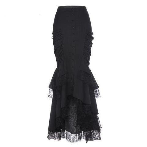 Black Lace Mermaid Skirt