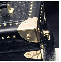 Vintage Personality Box Handbag With Rivets - Go Steampunk