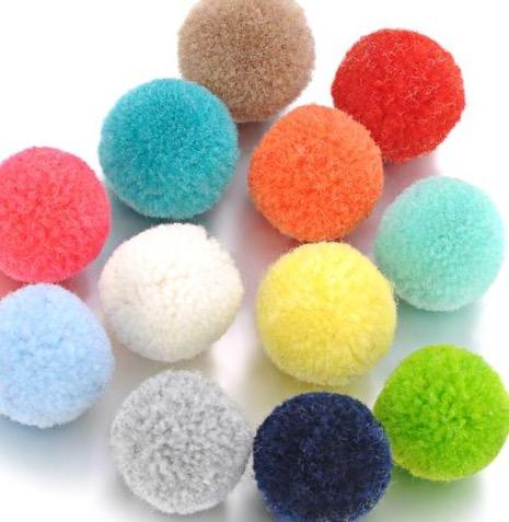 10pcs/lot 16mm Aromatherapy Essential Oil Pompon Ball for Diffuser Necklace