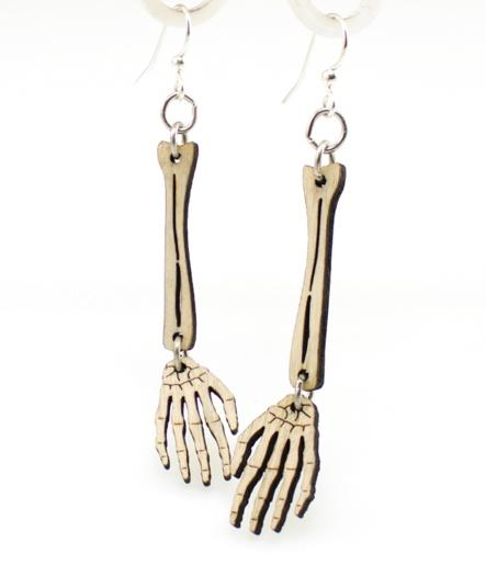 Skeleton Arm Earrings - Go Steampunk