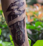 Robot Machine Arm Temporary Tattoo