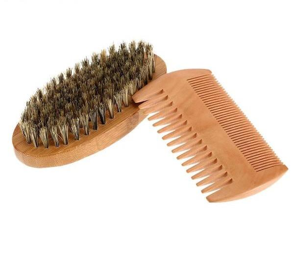 Mustache and Beard Comb & Brush Set