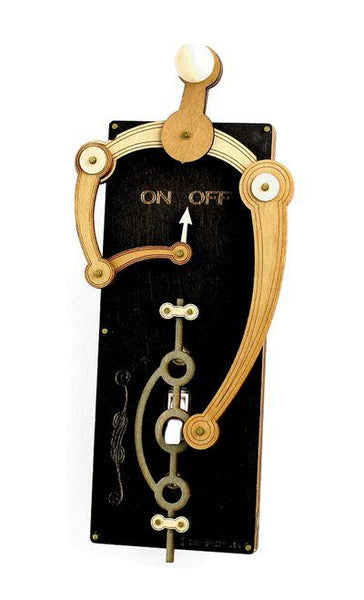 Single Toggle Curvy Curiosity Switch Plate Black - Go Steampunk