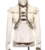 Victorian Steampunk Ruffled Buckle Top Blouse - Go Steampunk