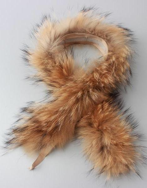 Real Fur Collar 100% Genuine Raccoon Fur Scarf - Go Steampunk