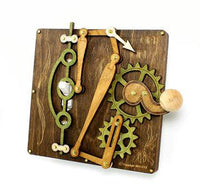 Single Lever Switch Plate in Brown - Go Steampunk