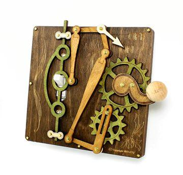 Single Lever Steampunk Switch Plate Chocolate - Go Steampunk
