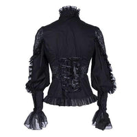 Hollow Lace Vintage Chiffon Shirt - Go Steampunk