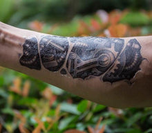 Load image into Gallery viewer, 3D Robot Mechanical Arm temporary tattoo - Go Steampunk