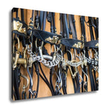 Gallery Wrapped Canvas, Briddles In Spanish Horse Riding School - Go Steampunk
