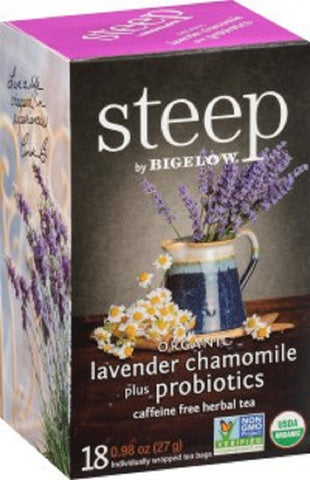BIGELOW: Steep Organic Lavender Chamomile Plus Probiotics, 0.98 oz