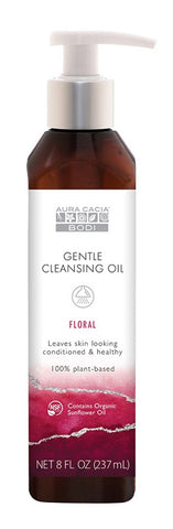 AURA CACIA: Floral Gentle Cleansing Oil, 8 oz - Go Steampunk