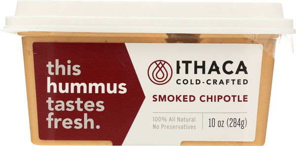 ITHACA COLD CRAFTED: Smoked Chipotle Hummus, 10 oz - Go Steampunk