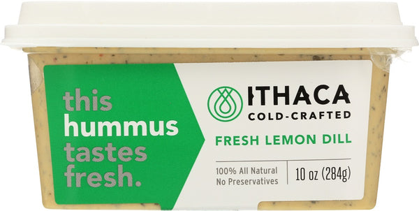 ITHACA COLD CRAFTED: Fresh Lemon Dill Hummus, 10 oz - Go Steampunk